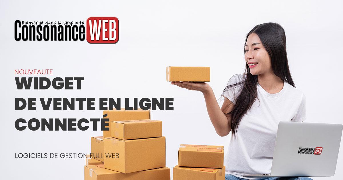Widget de vente en ligne ConsonanceWeb